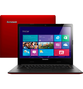 "Notebook Lenovo S400-59346384 - Vermelho - Intel Core i3-2365M - RAM 4GB - HD 500GB - Tela 14"" - Windows 8"