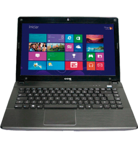 "Notebook CCE Ultra Thin U25 - Intel Celeron 847 - HD 320GB - RAM 2GB - Tela 14"" - Windows 8"