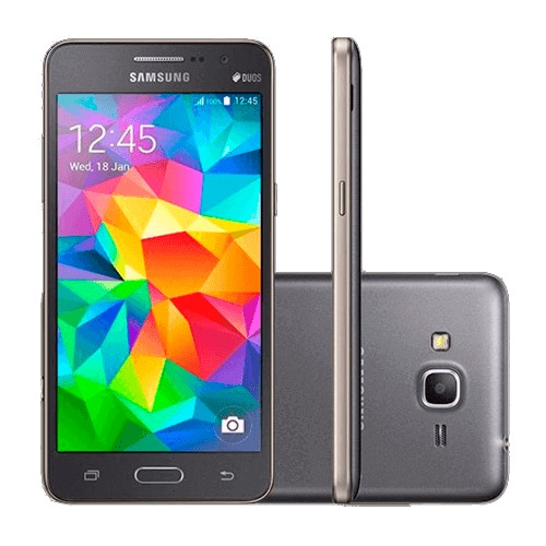 "Smartphone Samsung Galaxy Gran Prime - Cinza - 8GB - 3G - 8MP - Tela 5"" - Android 4.4"