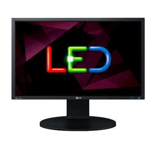 """Monitor LG 18,5"""" Widescreen - DVI - VGA - HD - 60Hz - Preto"""