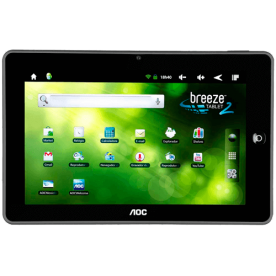 "Tablet Breeze AOC MW0821 - ARM Cortex A8 - 8GB - 512MB RAM - Tela 8"" - Android 2.3"