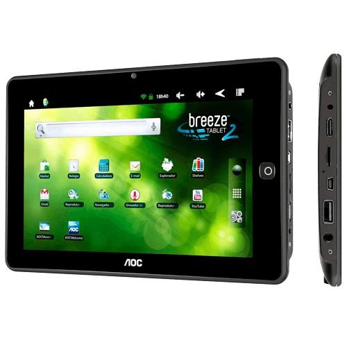 "Tablet Breeze AOC MW0821 - ARM Cortex A8 - 8GB - 512MB RAM - Tela 8"" - Android 2.3"