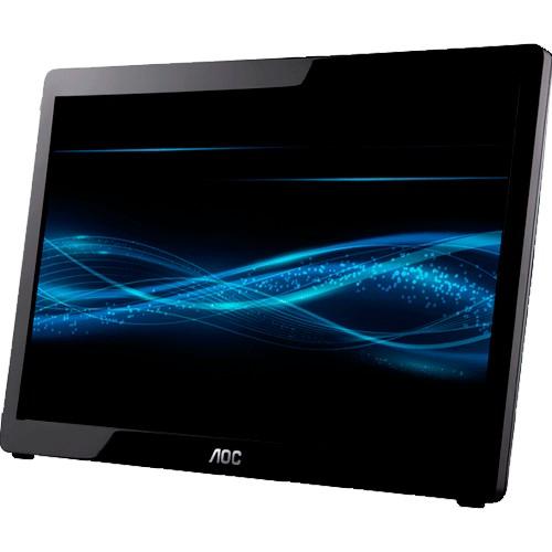 """Monitor AOC E1649FWU - USB - Widescreen - 15.6"""" - 16ms - 60Hz - HD 1366x768 - Preto"""