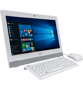 "Computador Acer All In One AZ1-752-BC52 - Intel Pentium Quad Core - RAM 4GB - HD 500GB - Tela 19,5"" - Windows 10 - Branco"