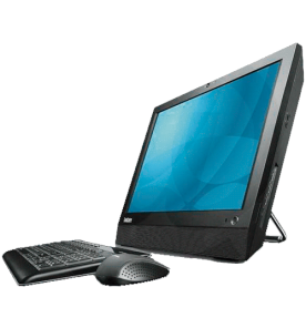 "Computador All in One Lenovo A70Z 0401H4P - Intel Pentium E5700 - RAM 2GB - HD 320GB - Tela LED 19"" - Windows 7 Professional"