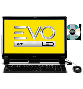 "Computador AOC EVO All in One 20625U-W8P - AMD E2-1800 - RAM 2GB - HD 500GB - LED 20"" - Wi-Fi - Windows 8.1"