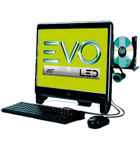 """Computador AOC EVO All in One 20625U-W8P - AMD E2-1800 - RAM 2GB - HD 500GB - LED 20"""" - Wi-Fi - Windows 8.1"""