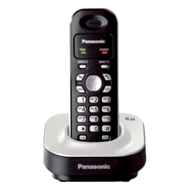 Telefone sem fio Panasonic KX-TG1371LBW - DECT 6.0 - Redial - Discagem Rápida - Visor Iluminado - Montável na Parede - Branco