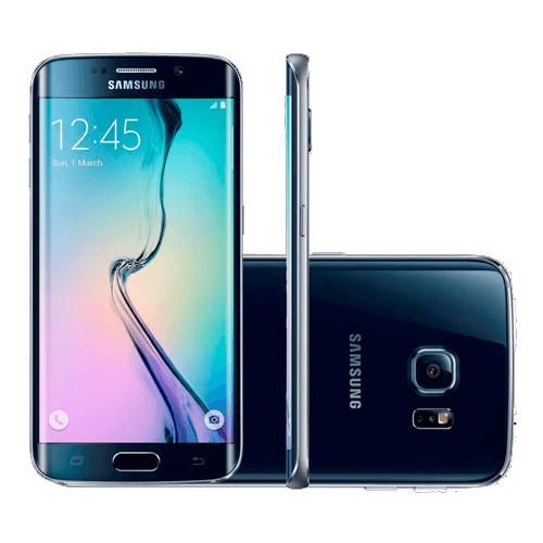 "Smartphone Samsung Galaxy S6 Edge G925 Azul - 32GB - Tela 5.1"" - Octa Core - 16MP - 4G - Android 5.0"