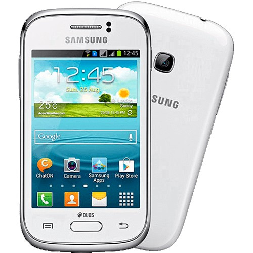"Samsung Galaxy Fame GT-S6810P - Branco - 3G - 5MP - 4GB - Android 4.1 - Tela 3.5"" - Desbloqueado"