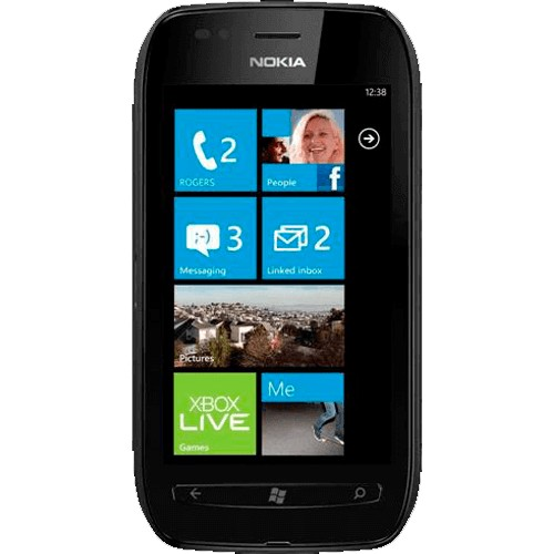 "Smartphone Nokia Lumia 710 Preto - 3G - 8GB - 5MP - Tela 3.7"" - GPS - Windows Phone 7.8 - Desbloqueado"