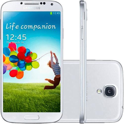 "Smartphone Samsung Galaxy S4 Branco - 4G - 16GB - Quad Core - Tela de 5"" - 13MP - Android 4.2 - Desbloqueado"