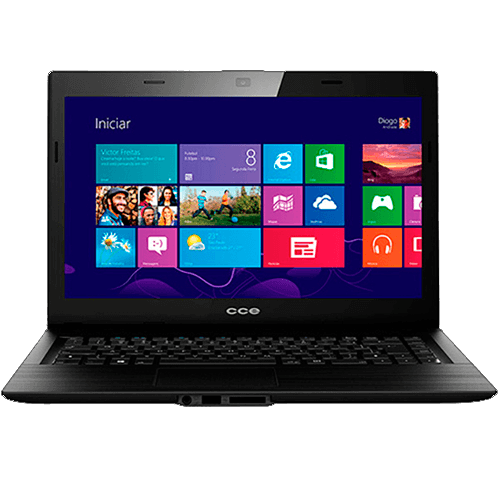 "Notebook CCE F40-30-4030CCE003 - Intel Celeron N2830 - RAM 2GB - HD 500GB - LED 14"" - Windows 8.1"