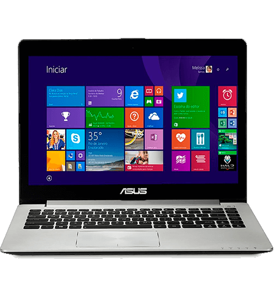"Notebook Ultrafino Asus S400CA-BRA-CA205H - Intel Celeron 1007U - RAM 2GB - HD 500GB - LED 14"" Touchscreen - Windows 8"