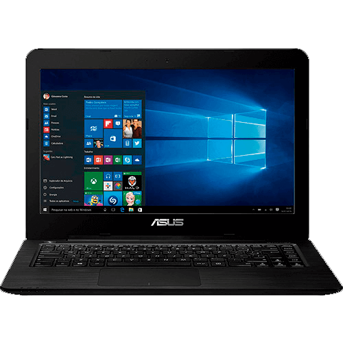 "Notebook ASUS Z450LA-WX009T - Intel Core i3-4005U - RAM 4GB - HD 1TB - Tela LED 14"" - Windows 10 - Preto"