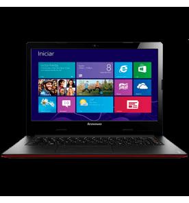 "Notebook Lenovo S400-59362098 - Intel Core i3-2375M - RAM 4GB - HD 500GB - LED 14"" - Windows 8 - Vermelho"