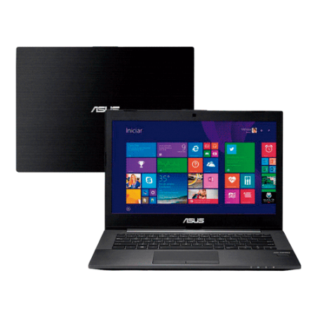 "Notebook Asus PU401LA-WO075P preto - Intel Core i7-4500U - RAM 6GB - HD 500GB - LED 14"" - Windows 8"