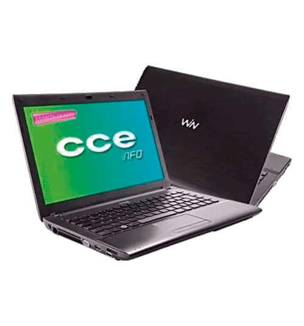 "Notebook CCE CHROMO 323L - Intel Core i3-2310M - RAM 2GB - HD 500GB - LED 14"" - Linux"