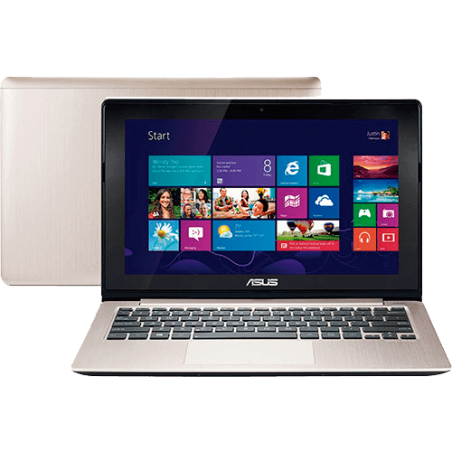 Notebook Asus Vivobook S200E-CT251H - Intel Core i3-2365M - RAM 2GB - HD 500GB - Tela LED de 11.6'' - Touchscreen - Windows 8
