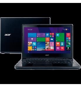 "Notebook Acer E5-471-34W1 - Intel Core i3-5005U - RAM 4GB - HD 500GB - Tela LED 14"" - Windows 8.1"