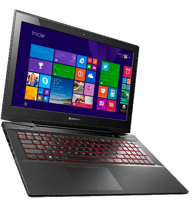 "Notebook Lenovo Gamer Y50 70-59444684 - Intel Core i7-4720HQ - RAM 16GB - HD 1TB - Tela LED 15.6"" - Windows 8.1 - Preto"