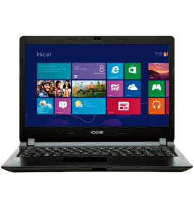 "Notebook CCE Ultra Thin H125 - Intel Pentium 2117U - RAM 2GB - HD 500GB - LED 14"" - Windows 8"