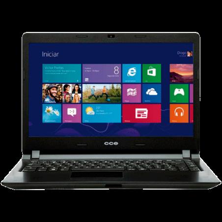 "Notebook CCE Ultra Thin H125 - Intel Pentium 2117U - RAM 2GB - HD 500GB - LED 14"" - Windows 8"