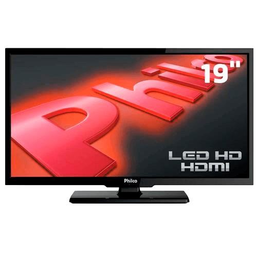 """Monitor Philco PH19B16DM LED 19"""" - HDMI - USB - VGA - 1366x768 - Preto"""