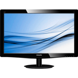 "Monitor Philips 226V3L LED 21.5"" - 1920 x 1080 - VGA - DVI - 5ms - Preto"