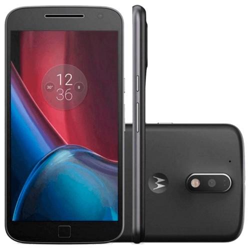 "Smartphone Motorola Moto G4 Plus XT1641 - Preto - Dual-Chip - 32GB - 16MP - Tela 5.5"" - Android 6.0 Marshmallow"