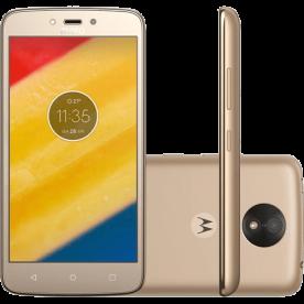 "Smartphone Motorola Moto C Plus XT1726 - Ouro - TV digital - 8GB - 4G - Tela 5"" - Dual Chip - Câmera 8MP - Android 7.0"