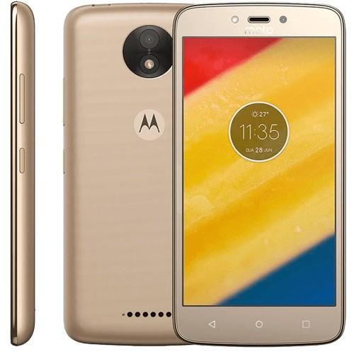 "Smartphone Motorola Moto C Plus - Ouro - 16GB - 4G - Dual Chip - Tela 5"" - Câmera 8MP - TV Digital - Android 7.0"