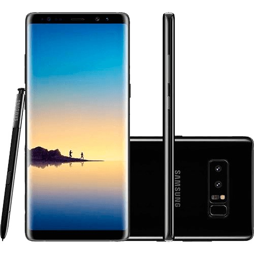 "Smartphone Samsung Galaxy Note 8 - 128GB - Octa-Core - Dual-Chip - Câmera 12MP - Tela 6.3"" - Quad HD - 4G - Android 7.1 - Preto"
