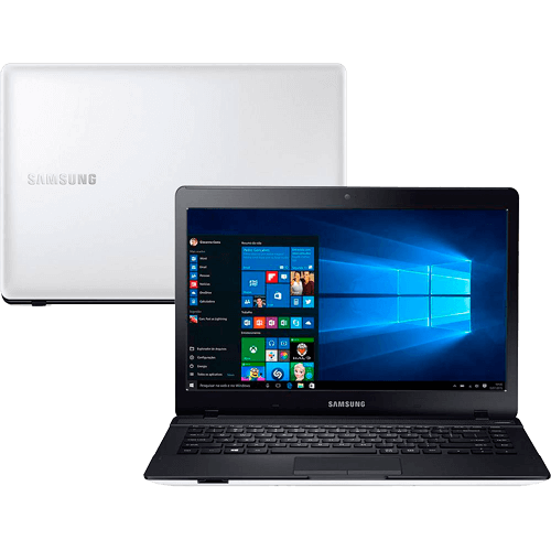 "Notebook Samsung Ativ Book 3 - Branco - Intel Core i3-5005U - RAM 4GB - HD 1TB - Tela 14"" - Windows 10"