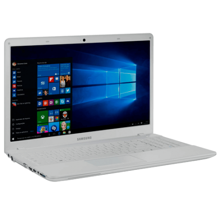 "Notebook Samsung Expert X20 NP270E5K-KWWBR - Branco - Intel Core i5-5200U - RAM 4GB - HD 1TB - Tela 15.6"" - Windows 10"