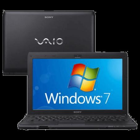 "Notebook Sony Vaio VPCYB45JB/B - Preto - AMD E-450 - RAM 2GB - HD 500GB - Tela 11.6"" - Windows 7"