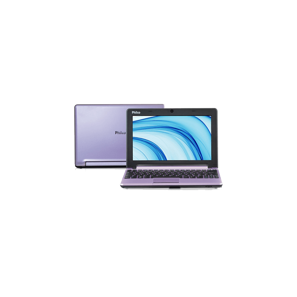 "Netbook Philco 10D-L123LM - Lilás - Intel Atom N2600 - RAM 2GB - HD 320GB - Tela 10"" - Linux"