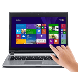 "Notebook Positivo Premium S2850 - Cinza - Touch - Intel Celeron 1007U - RAM 4GB - HD 320GB - Tela 14"" - Windows 8"