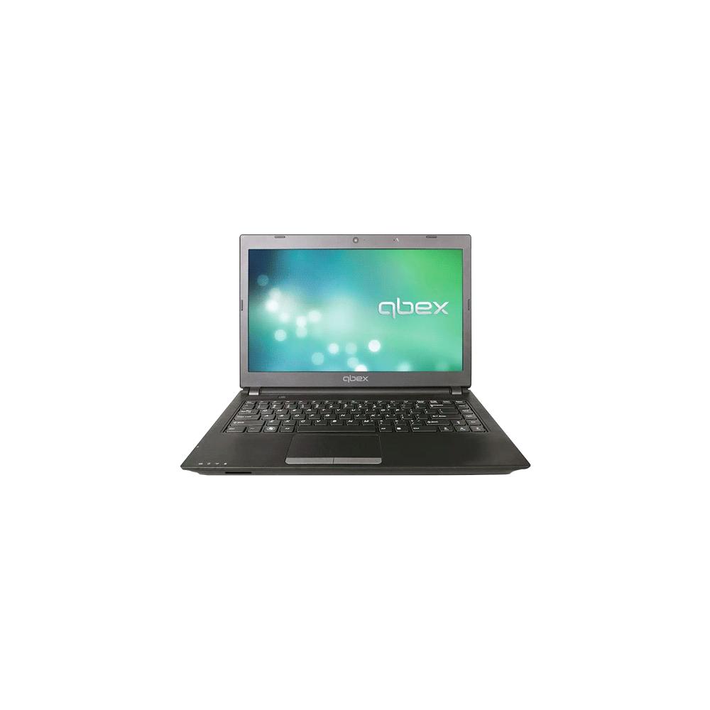 "Notebook Qbex NOTAXH1668113 - Preto - AMD C60 - RAM 2GB - HD 320GB - Tela 14"" - Linux"