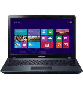 "Notebook Samsung ATIV Book 2 NP270E4E-KD8BR - Preto - Intel Celeron 1007U - RAM 2GB - HD 500GB - Tela 14"" - Windows 8"