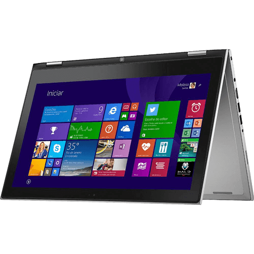"Notebook Dell 2 em 1 Inspiron I13 - Prata - Intel Core i7-5500U - RAM 8GB - HD 500GB - SSD 8GB - Tela 13.3"" - Windows 8.1"