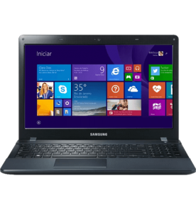 "Notebook Samsung Ativ Book 2 NP270E5J Preto - NVIDIA GeForce 710M - i7-4510U - RAM 8GB - HD 1TB - Tela 15.6"" - Windows 8.1"