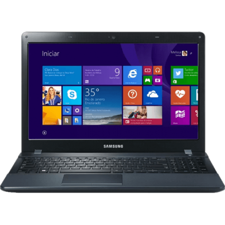 "Notebook Samsung Ativ Book 2 NP270E5J Preto - NVIDIA GeForce 710M - i7-4510U - RAM 8GB - HD 1TB - Tela 15.6"" - Windows 8.1"