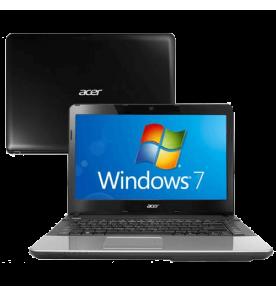 "Notebook Acer E1-471-6627 - Preto - Intel Core i3-2370M - RAM 4GB - HD 500GB - Tela 14"" - Windows 7 Home Basic"