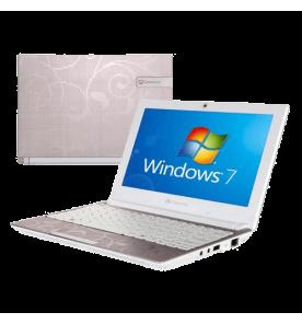 Netbook Acer Gateway LT2302P com processador Intel Atom Dual Core, tela de 10.1 polegadas, memória RAM de 2GB, HD de 250GB e sistema operacional Windows 7 Starter. Design elegante. Pequeno e leve.