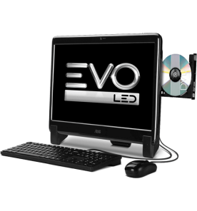 "Computador AOC EVO All in One 20325U-M2011 - LED 20"" - AMD E-350 - RAM 2GB - HD 500GB - Windows 7 Starter"
