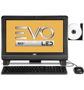"Computador AOC EVO All in One 9325U-DA181MA - AMD E-350 - RAM 2GB - HD 500GB - LED 18.5"" - Windows 7 Starter"