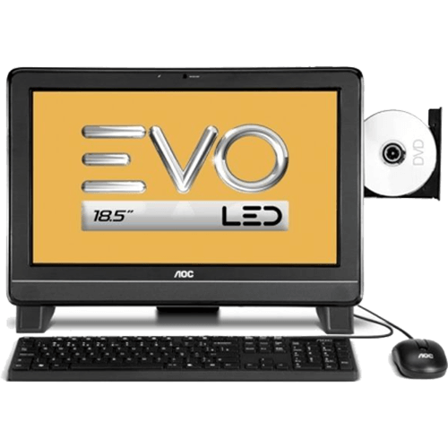 "Computador AOC EVO All in One DA181MA - AMD E-300 - RAM 2GB - HD 500GB - AMD Radeon 6310 - LED 18.5"" - Windows 7 Starter"