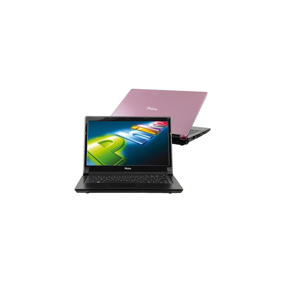 "Notebook Philco 14H-R143LM - Rosa - Intel Atom D2500 - RAM 2GB - HD 500GB - Tela 14"" - Linux"