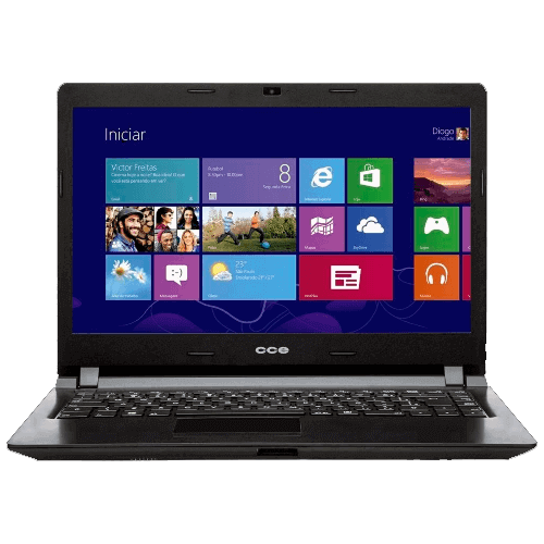 "Notebook CCE X325-3 - Intel Core i3-2328M - HD 320GB - RAM 2GB - Tela 14"" - Windows 8"